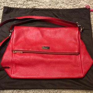 NWOT Kate Spade Red Leather Cross Body Hobo